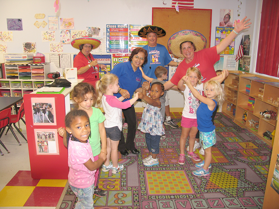 En Doorway To Learning teachers and students celebrated  'Cinco de Mayo' dancing Mexican music. The daycare is located at 1070 Emerson Dr NE, Palm Bay, FL 32907.