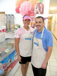 Hector Daniel Velazquez and his wife Joanie in their new ice cream shop in West Melbourne.