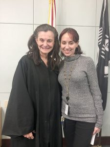 Karenina Aponte is the right hand of Judge Nancy Maloney of the 18th Court Circuit Court in Florida.