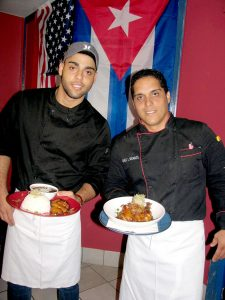 The brothers Jorge y Juan Ricardo Morales are the chefs at Nini's Cuban Restaurant located at 147 Fifth Ave., en Indialantic.